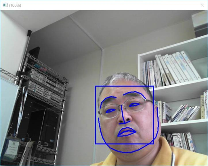 顔認証システムFaceDRAV オーバーレイ