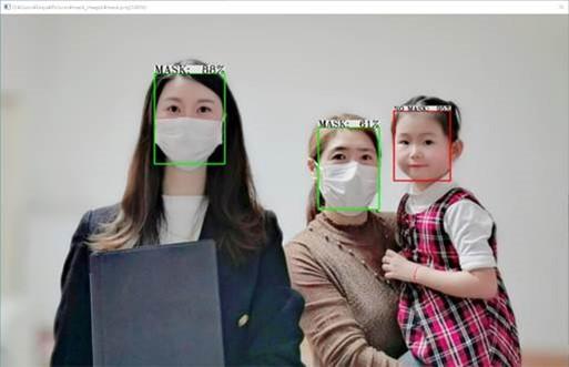 顔認証システムFaceDRAV マスク検出