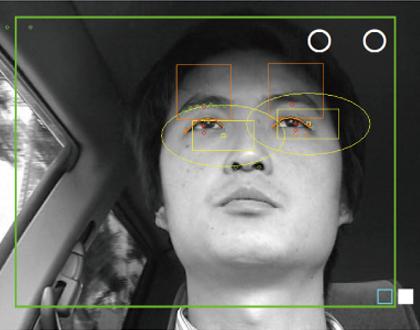 ドライバーモニター視線追跡