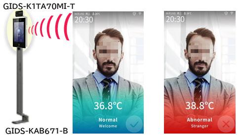 体温測定機能付き 顔認証ターミナル