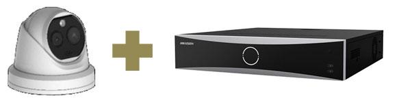体温計測カメラ 顔認証NVRセット