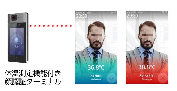体温測定機能付き顔認証ターミナル